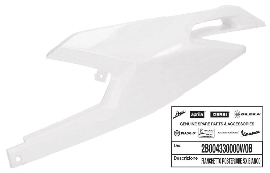 T4Tune 360078 Parafango anteriore bianco Zip Air Cooled